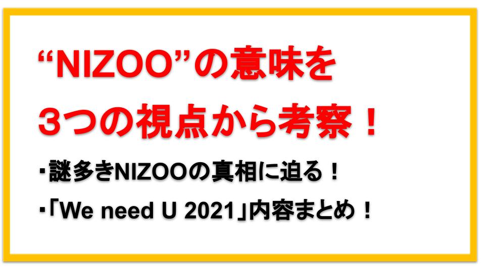NIZOOの意味とは?NiziUが発表した「We need U 2021」動画内容まとめ!